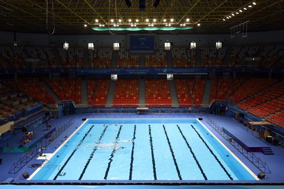 광주세계수영선수권대회 아티스틱스위밍 경기장 모습. [연합뉴스]