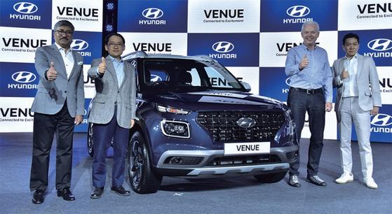현대자동차가 5월 21일(현지시간) 인도 시장에 글로벌 신차 베뉴를 가장 먼저 출시 했다. / 사진:현대자동차그룹
