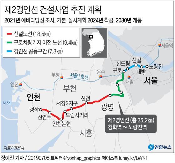 제2경인선 건설사업 추진계획 [연합뉴스]