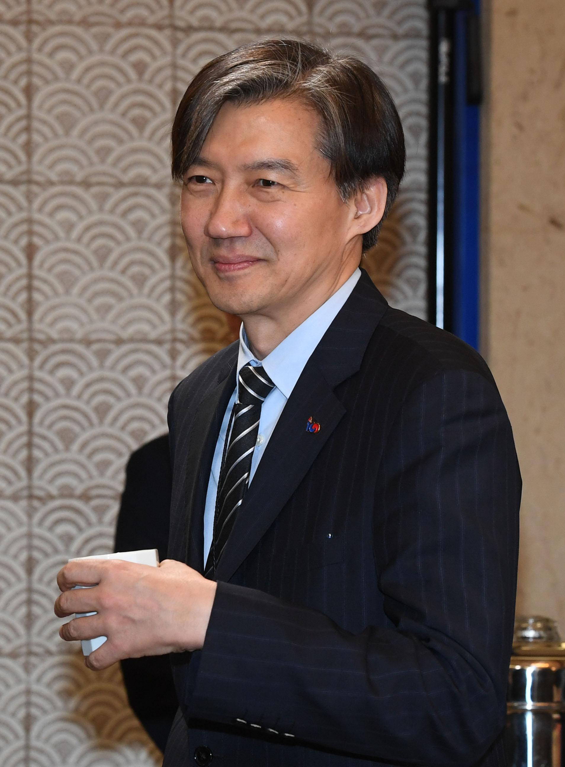 조국 청와대 민정수석. 청와대사진기자단