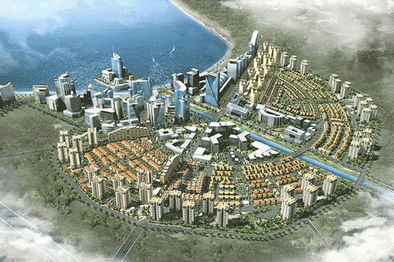 부산저축은행이 캄보디아에서 추진했던 '한국형 신도시'인 캄코시티의 조감도. [중앙포토]