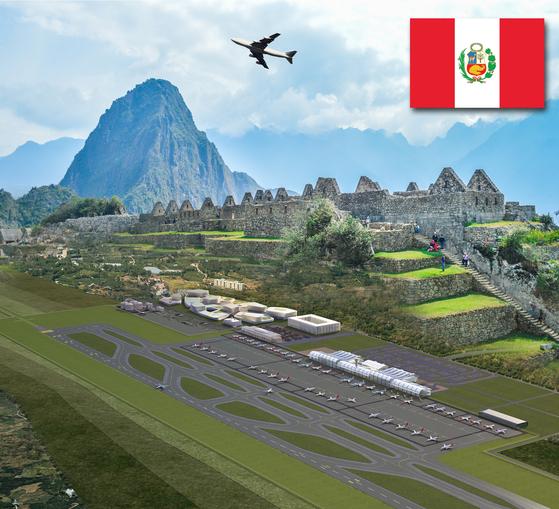 한국공항공사(KAC)가 건설사업 총괄관리(PMO) 사업을 수주한 페루 친체로 신공항 조감도. [사진 한국공항공사]
