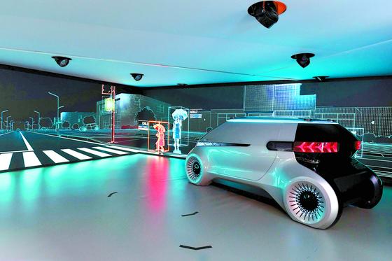 현대모비스가 공개한 미래차 콘셉트 엠비전. [사진 현대모비스]