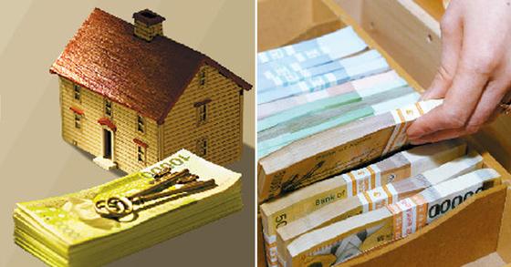 부동산 규제 등으로 집 사기가 어려워지며 올 1분기 가계 여윳돈이 3년만에 최대치를 기록했다. [중앙포토]