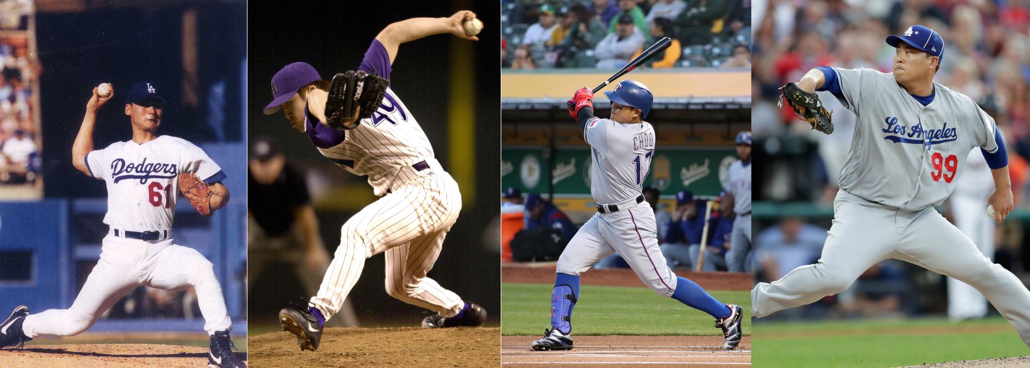 '코리안 몬스터' 류현진(LA 다저스)이 역대 한국인 선수로는 4번째로 미국프로야구 메이저리그(MLB) '별들의 무대'에서 내셔널리그팀 선발로 출전해 1이닝 무실점을 기록했다. 이로써 박찬호(2001년.왼쪽부터), 김병현(2002년), 추신수(2018년)에 이어 류현진은 4번째 한국인 빅리거 올스타로 맥을 이었다. [연합뉴스]