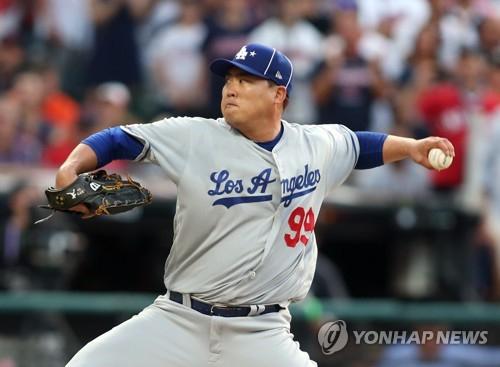 한국인 최초로 MLB 올스타전 선발 등판한 류현진. [USA 투데이/로이터=연합뉴스]