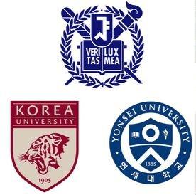 서울대학교, 연세대학교, 고려대학교 로고(위부터 시계방향). [중앙포토]