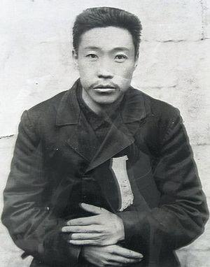 1909년 결성한 단지동맹(斷指同盟) 직후의 안중근 의사 모습.