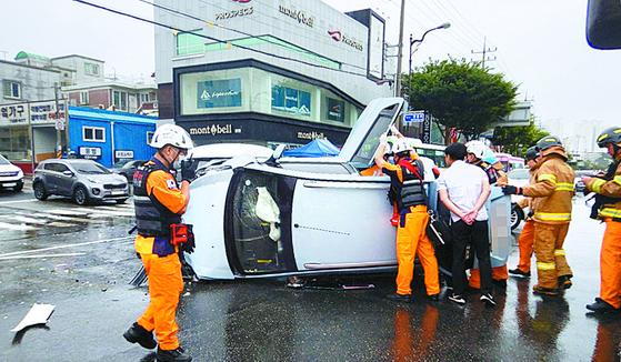 빗길 교통사고