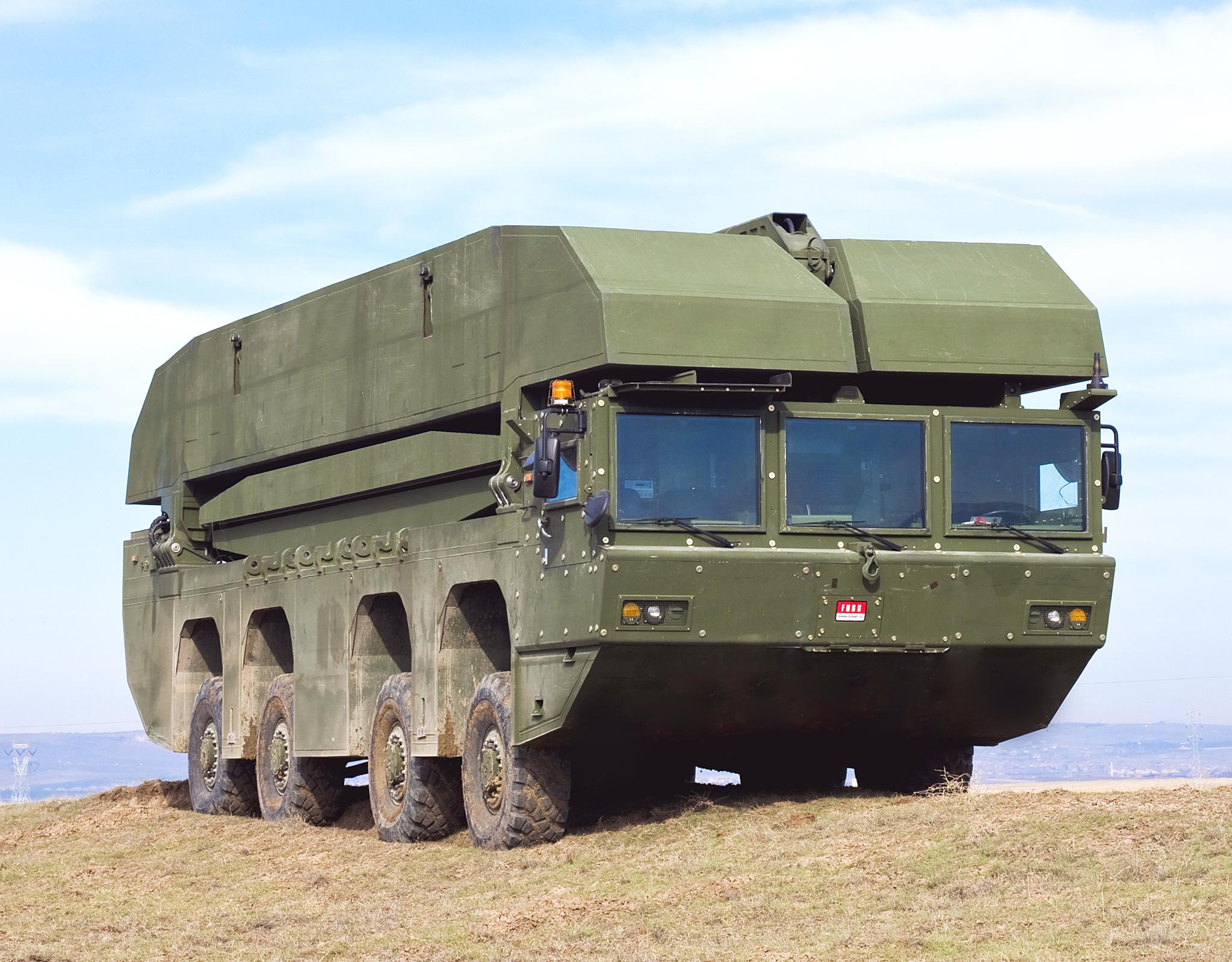 현대로템이 개발하는 한국형 자주도하장비 AAAB. 한국과 지형이 비슷한 터키에서 전력화 경험이 있어 한국 군 작전에 유리하다는 게 현대로템 측의 설명이다. 런플랫 타이어, 수상 주행시 360도 회전 기동 기능 등 첨단 장비를 장착했다. [사진 현대로템]