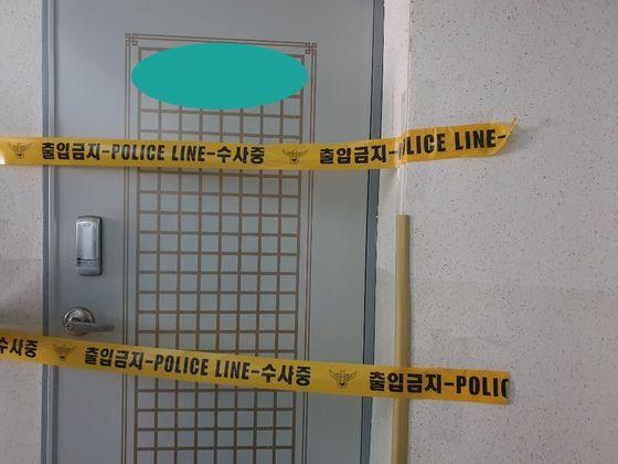 60대 가장이 아내와 딸을 살해한 사건 현장. 위성욱 기자
