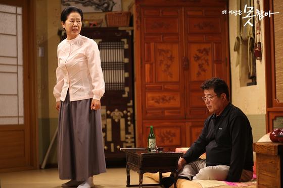 JTBC 드라마 '더 이상은 못 참아'의 한 장면. 황혼이혼을 결심한 부부를 중심으로 벌어지는 가족 간의 갈등을 담았다.[중앙포토]