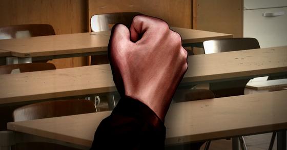학생이 교사에게 폭언·폭행을 저지르거나 교육 활동을 방해하는 '교권 침해' 행위가 매년 늘고 있는 것으로 나타났다. [중앙포토·연합뉴스]