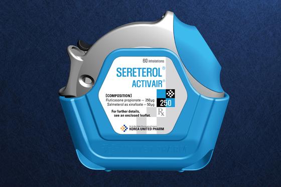 한국유나이티드 제약이 개발에 성공한 흡입형 천식 치료제. [사진 한국유나이티드제약]