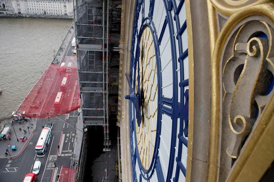 영국 런던 웨스트 민스터 엘리자베스 타워의 빅 벤 시계탑은 2017년 9월부터 2021년까지 약 4년간 보수공사중이다. [로이터=연합뉴스]