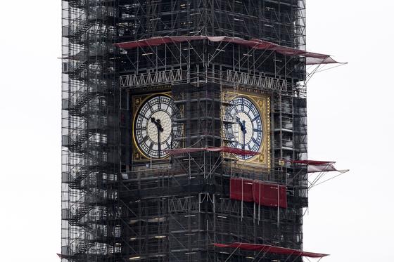 1859 년 7 월 11 일부터 시간을 알리기 시작한 빅벤 시계탑. [AFP=연합뉴스]