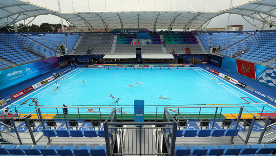 세계수영선수권대회가 12일 개막한다. 남부대 시립국제수영장. [뉴스1]