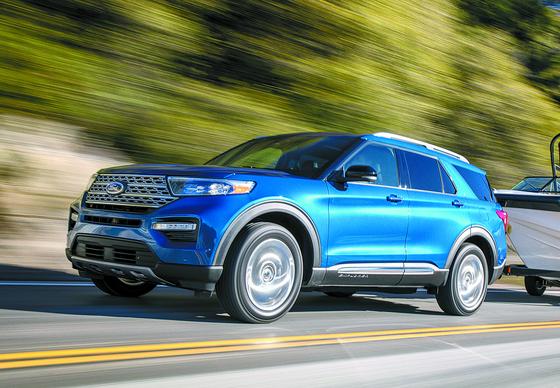 현대차 팰리세이드 판매량이 치솟자 포드의 대형 SUV 익스플로러도 인기를 누렸다. 사진은 올해 출시 예정인 신형 익스플로러. [사진 포드세일즈서비스코리아]
