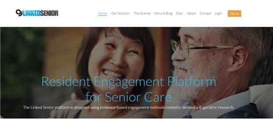 클라우드 기반으로 치매 치료와 건강관리 콘텐츠를 제공하는 링크드시니어(Linked Senior). 2018년 기준 300개 이상의 요양원과 협약을 체결해 치매 진단을 받은 시니어들이 고정적으로 사용하고 있다. [사진 링크드시니어 홈페이지 캡처]