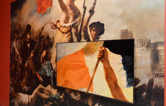 프랑스혁명을 기념하기 위해 그린 외젠 들라크루아의 '민중을 이끄는 자유여신. [중앙포토]