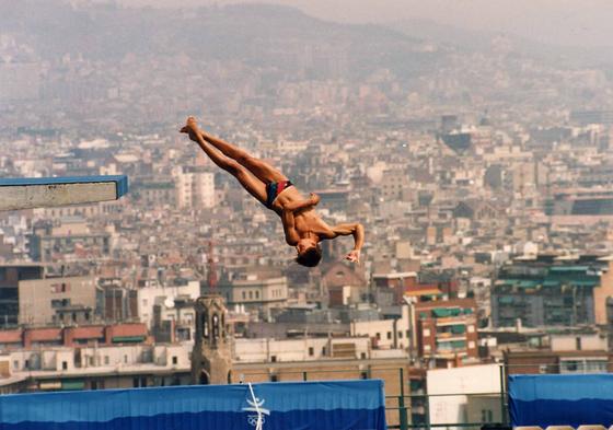 바르셀로나 올림픽 당시 하이다이빙 경기 모습. [중앙포토]