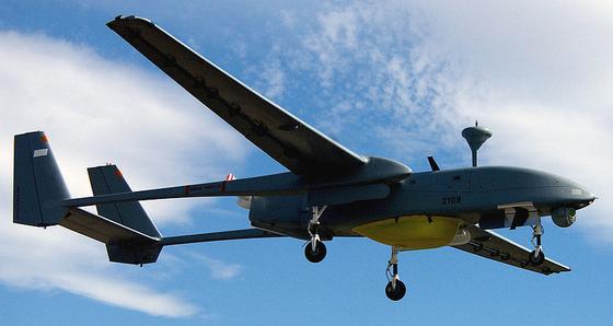 이스라엘이 자랑하는 중고도 장기체공 무인기 IA 헤론의 모습. 이스라엘항공우주산업(IAI)이 제작한 무인기로 우수한 성능 덕분에 전 세계에서 인기를 모으고 있다. [위키피디아]
