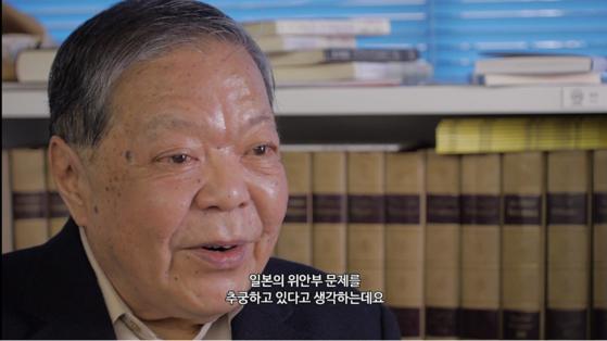 다큐멘터리 '주전장'에 출연한 일본 우익인사 가세 히데아키. [사진 시네마달]