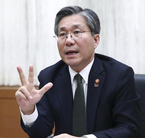 성윤모 산업통상자원부 장관. 임현동 기자