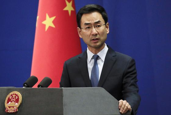 겅솽 중국 외교부 대변인. [AP=연합뉴스]