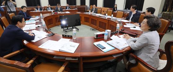 16일 오전 서울 여의도 국회에서 정보위원회 전체회의가 열리고 있다. [뉴스1]