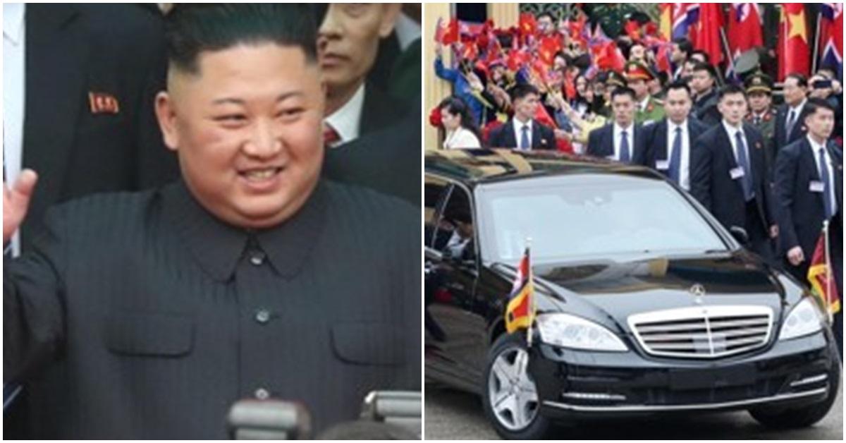 왼쪽 사진은 김정은 북한 국무위원장. 오른쪽은 북·미 정상회담을 하루 앞둔 지난 2월 26일 김 위원장이 중국과 접경지역인 베트남 랑선성 동당역에 도착한 모습. [연합뉴스]