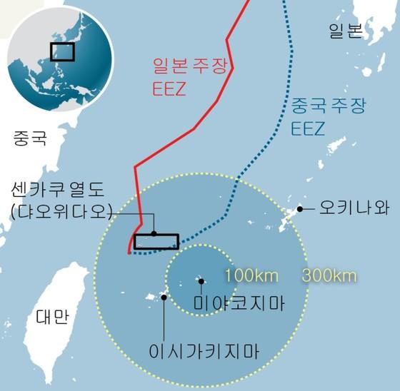 일본과 중국이 영토 분쟁을 벌이고 있는 센카쿠 열도. [중앙포토]