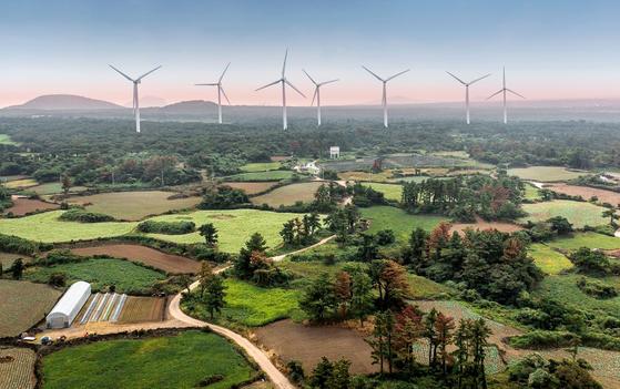 상반기 태양광ㆍ풍력 발전 설비가 전년 동기보다 52% 증가했다. 사진은 한국중부발전이 조성하는 상명풍력단지 모습. [사진 한국중부발전]