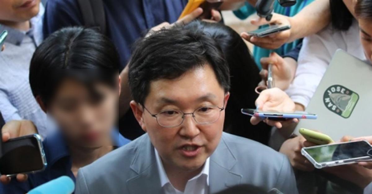 사고 현장 찾은 김용태 자유한국당 의원. [연합뉴스]