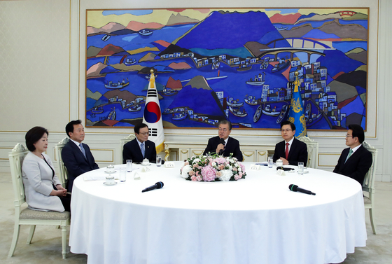 [속보] 文대통령·여야 5당대표 범국가적 비상협력기구 설치