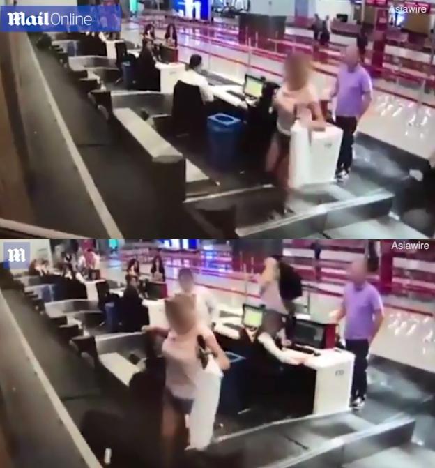 비행기 처음 타봐서… 수하물 컨베이어 벨트 걸어간 여성