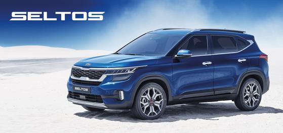 기아자동차가 글로벌 전략 소형 SUV 셀토스를 18일 출시했다. 첨단 안전주행 기술과 인포테인먼트 시스템을 채용했다. [사진 기아자동차]