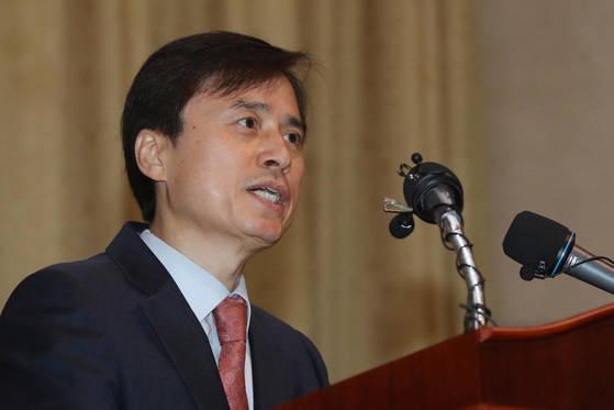 19일 사의를 표명한 조은석(54·사법연수원 19기) 법무연수원장. 김경록 기자