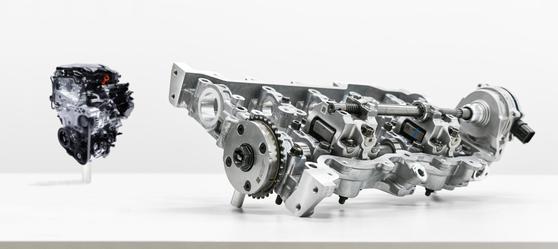 현대차가 개발한 CVVD 기술이 적용된 가솔린 엔진 파워트레인 모습. [사진 현대자동차]