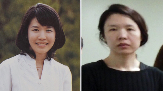 고유정의 과거(왼쪽)와 현재 얼굴. 왼쪽은 중앙일보가 단독 입수한 고유정의 대학교 졸업사진이다. [독자제공]