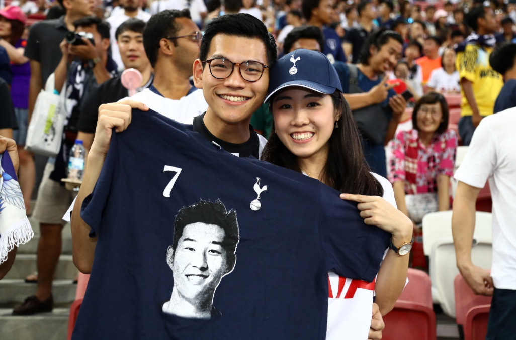 토트넘 손흥민은 아시아팬들 사이에서도 인기가 높다. [토트넘 소셜미디어]