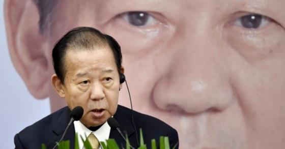 일본 여당인 자민당의 니카이 도시히로(二階俊博) 간사장. [연합뉴스]