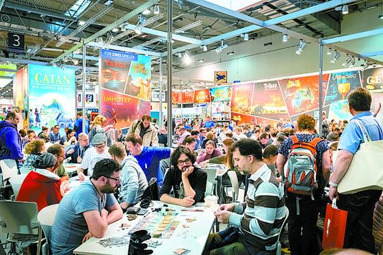 독일 에센에서 매년 열리는 세계 최대 보드게임 박람회 슈필의 모습. [Internationale Spieltage SPIEL 페이스북]