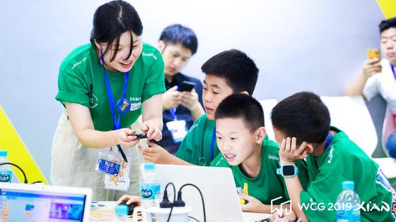지난 18일부터 21일까지 중국 시안에서 열린 WCG 2019의 '스크래치(코딩) 크리에이티브 챌린지' [사진 스마일게이트]
