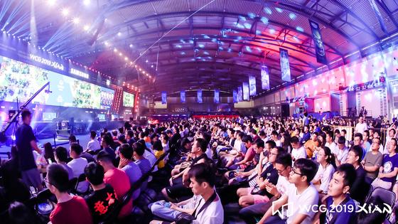 지난 18일부터 21일까지 중국 시안에서 열린 WCG 2019에 가득 찬 관객들 [사진 스마일게이트]