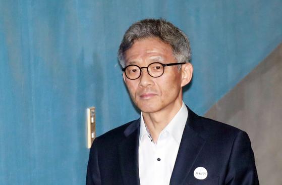 항소심 공판에 출석하고 있는 안태근 전 검사장. [연합뉴스]