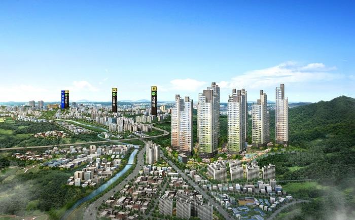 ▲ 사진제공=산내지역주택조합 /대전산내이안아파트 광역도