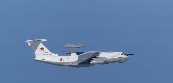 사진은 러시아 A-50 조기경보통제기 모습. [일본 방위성 통합막료감부 제공자료 캡처]