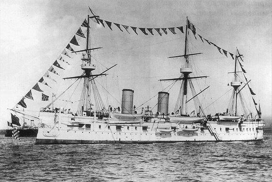 러일전쟁 중이던 1905년 울릉도 앞바다에 침몰한 러시아 순양함 '드미트리 돈스코이' [중앙포토]