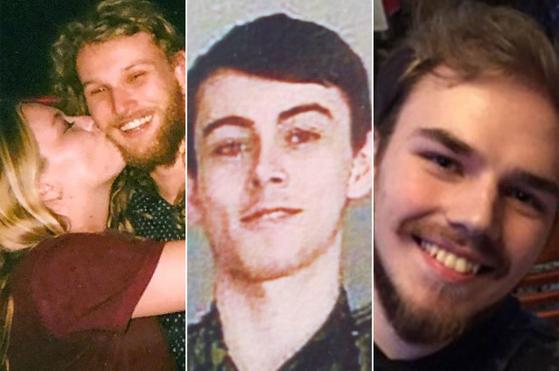 캐나다 브리티시컬럼비아주에서 잔인하게 살해된 호주인 루카스 파울러와 미국인 차이나 디스 커플(왼쪽 사진)의 모습. 오른쪽 사진은 사건 관련 실종자에서 살인용의자로 전격 전환된 브라이어 슈메겔스키(18)와 캄 매클레오드(19)의 모습. [RCMP 페이스북]